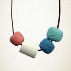 Handcrafted clay necklace available at www.neapolitan.net.au