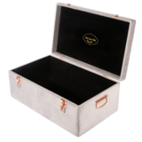 Petit Luxe Bebe Velvet Storage Case Set - Soft Grey - Neapolitan Homewares