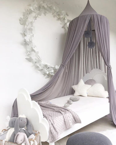 Spinkie Sheer Canopy - Smoke-Spinkie-Neapolitan Homewares
