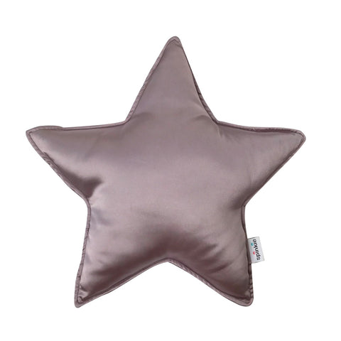 Spinkie Charmeuse Star Pillow - Mauve-Spinkie-Neapolitan Homewares