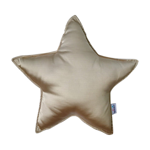 Spinkie Charmeuse Star Pillow - Pale Gold