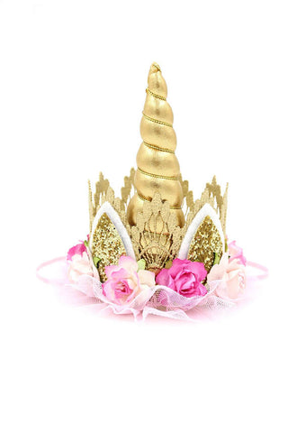 Love Crush Crown - Unicrown Gold Lace with Flowers