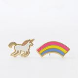 Yellow Owl Earrings - Unicorn & Rainbow