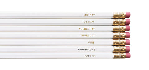 August & Co Pencil Set - Monday to Coffee