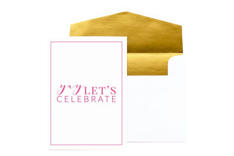 August & Co Card - Yay Lets Celebrate - Neapolitan Homewares