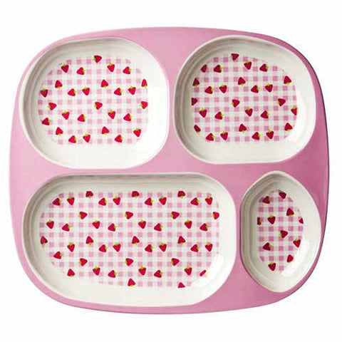 RICE Kids melamine tray - Strawberry