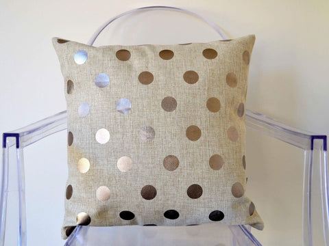 A Tea with the Queen cushion cover - pewter dots - Neapolitan Homewares