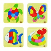 andZee Natural Wooden Kids Puzzles (set of 4) - Neapolitan Homewares