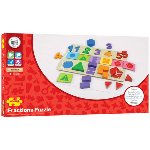 Bigjigs Toys - My First Fractions Puzzle - Neapolitan Homewares