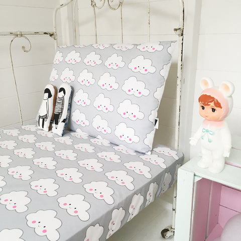 Love Frankie Cloud Fitted Cot Sheet