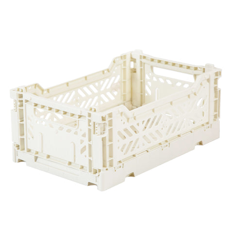 Lillemor Ay-Kasa Mini Folding Crate Coconut Milk - Neapolitan Homewares