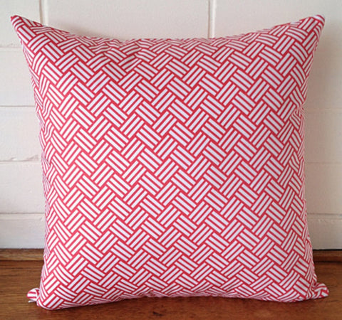Black Eyed Susie cushion - coral billow - Neapolitan Homewares