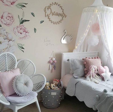 Hope and Jade Round Canopy - White - Neapolitan Homewares