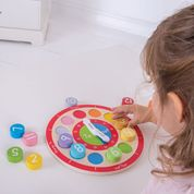 Bigjigs Toys - Teaching Clock - Neapolitan Homewares