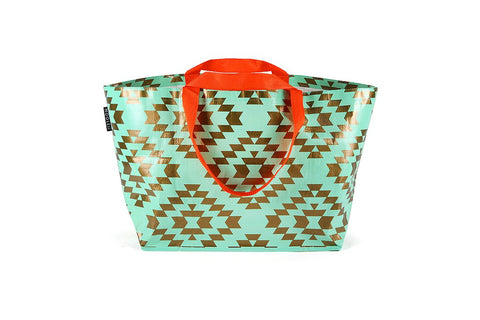 Mooleii Large Tote - Mint & Bronze Metallic - Neapolitan Homewares