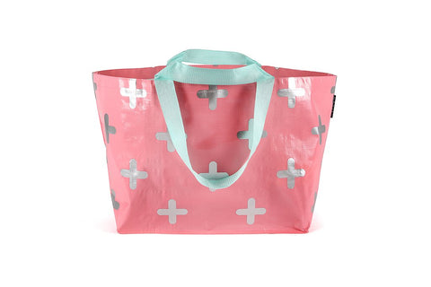 Mooleii Large Tote - Blush Pink & Silver Cross