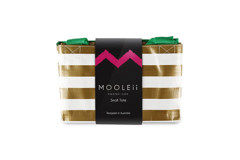 Mooleii Small Tote - Gold Metallic Stripes - Neapolitan Homewares