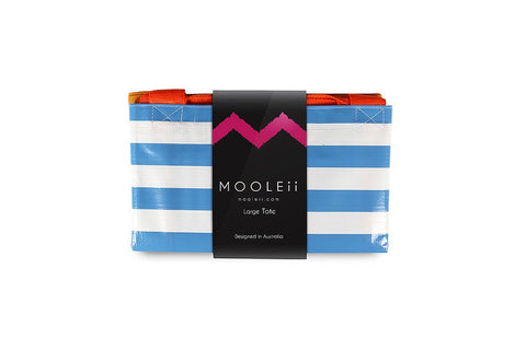Mooleii Large Tote - Sky Blue Stripes