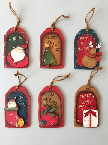 Christmas Wooden Tags - Neapolitan Homewares