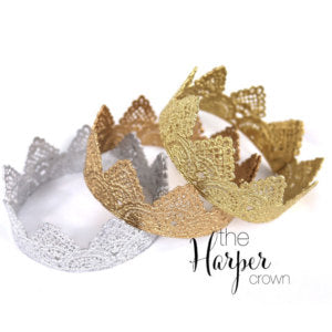 Love Crush Crown - Harper Gold Lace Crown