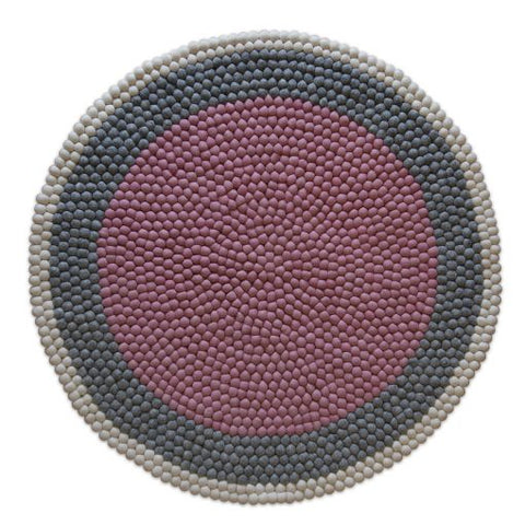 The Slumber Co Felt Ball Rug - Lottie-The Slumber Co-Neapolitan Homewares