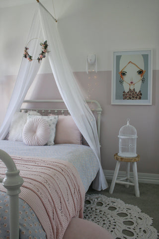 Hope and Jade Drape Canopy - White - Neapolitan Homewares