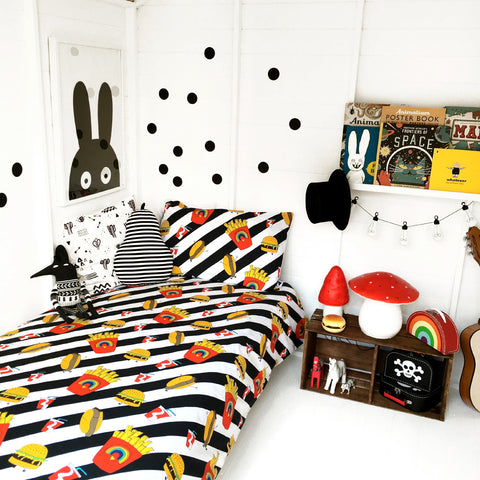 Love Frankie Junk Food Single Duvet Set - Neapolitan Homewares