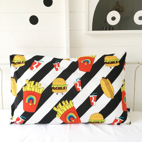Love Frankie Junk Food Pillow Case - Neapolitan Homewares