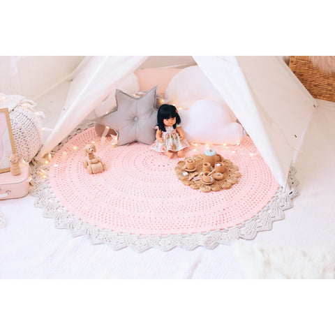 Hope and Jade Crochet rug 150cm - Aria PREORDER - Neapolitan Homewares