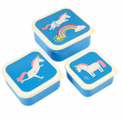 Rex London Snack Boxes - Unicorn (set of 3) - Neapolitan Homewares