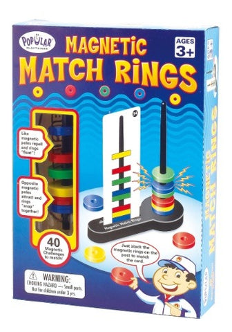 Popular Playthings Magnetic Match Rings - Neapolitan Homewares