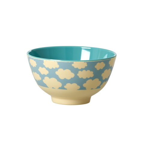 RICE small melamine two tone bowl - Cloud - Neapolitan Homewares