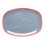 RICE melamine rectangular plate - Sailor Stripe print