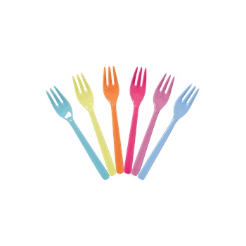 RICE melamine forks - Go for the Fun Assorted colours (set of 6) - Neapolitan Homewares