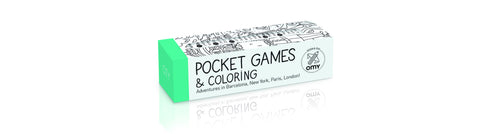OMY Design & Play Kids Pocket Games & Colouring Set - Neapolitan Homewares