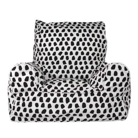 Lelbys bean chair - splotches black & white - Neapolitan Homewares