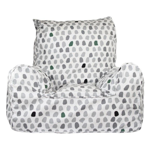 Lelbys bean chair - splotches grey & green - Neapolitan Homewares