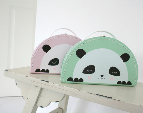 Kids Boetiek Suitcase - Panda Mint - Neapolitan Homewares