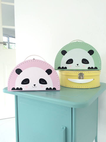 Kids Boetiek Suitcase - Panda Mint