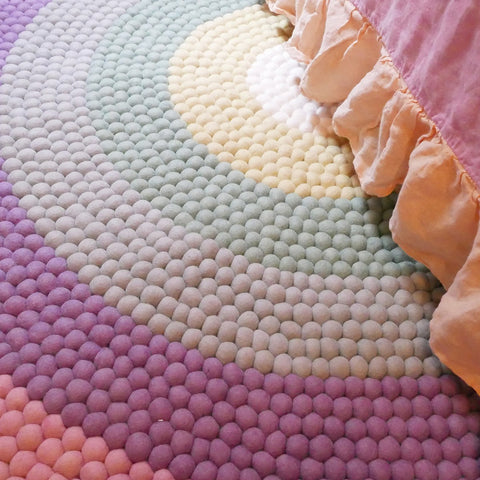 The Slumber Co Rainbow Rug - Pastel-The Slumber Co-Neapolitan Homewares