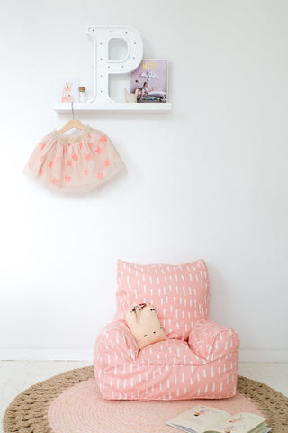 Lelbys Bean Chair -  Pink Raindrops - Neapolitan Homewares