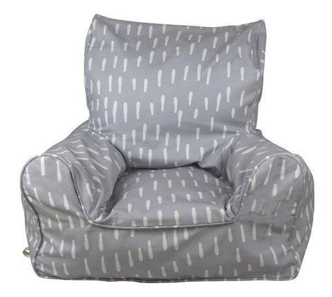 Lelbys Bean Chair -  Grey Raindrops - Neapolitan Homewares