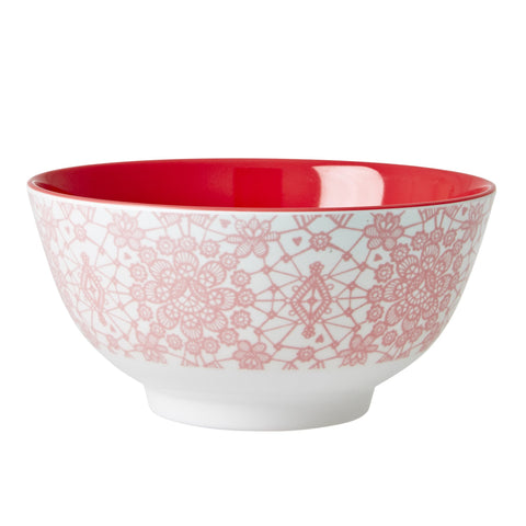 RICE melamine two tone bowl - Lace Coral - Neapolitan Homewares