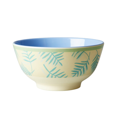 RICE melamine two tone bowl - Palm Leaves