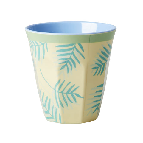RICE melamine two tone tumbler - Palm Leaves - Neapolitan Homewares