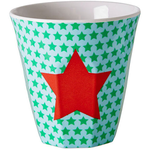 RICE Kids melamine cup - Red Star print - Neapolitan Homewares