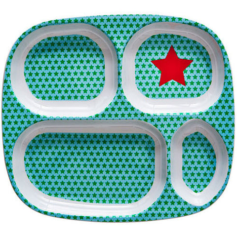 RICE Kids melamine tray - Red Star print - Neapolitan Homewares