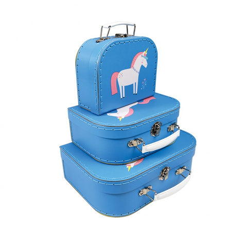 Rex London Mini Suitcases - Unicorn (set of 3) - Neapolitan Homewares