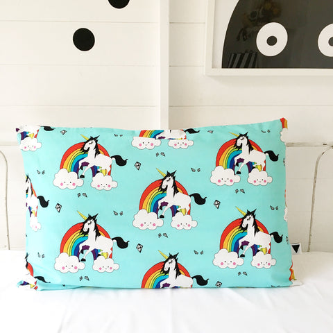 Love Frankie Rainbow Unicorn Pillow Case