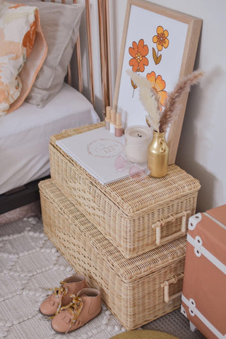 Junimoon Storage Case Set Rattan (set of 2) PREORDER - Neapolitan Homewares